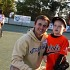 Jimmy Kuebler and Travis at Miracle league last Saturday
