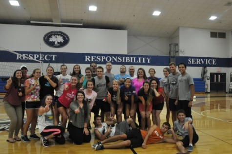 Seniors Swipe the Faculty in Volleyball