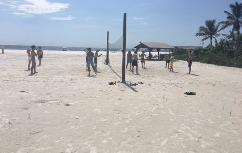 Cross Country Team Parties on the Beach