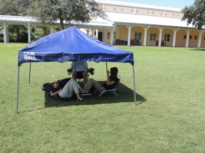Seniors Set Up Camp