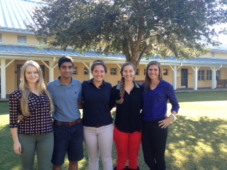 (Left to right) Junior, Emma Henson, Seniors, Adil Shariff, Natalie Chait, Emily Camire, Ellie Kimmel