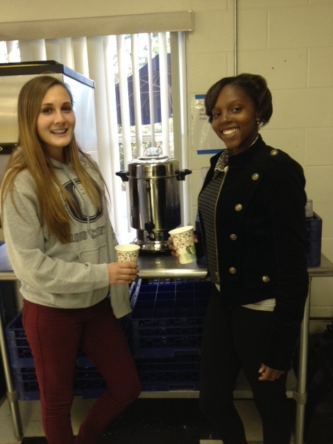 Hot Chocolate Defrosts Students