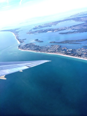 Flying over Sarasota