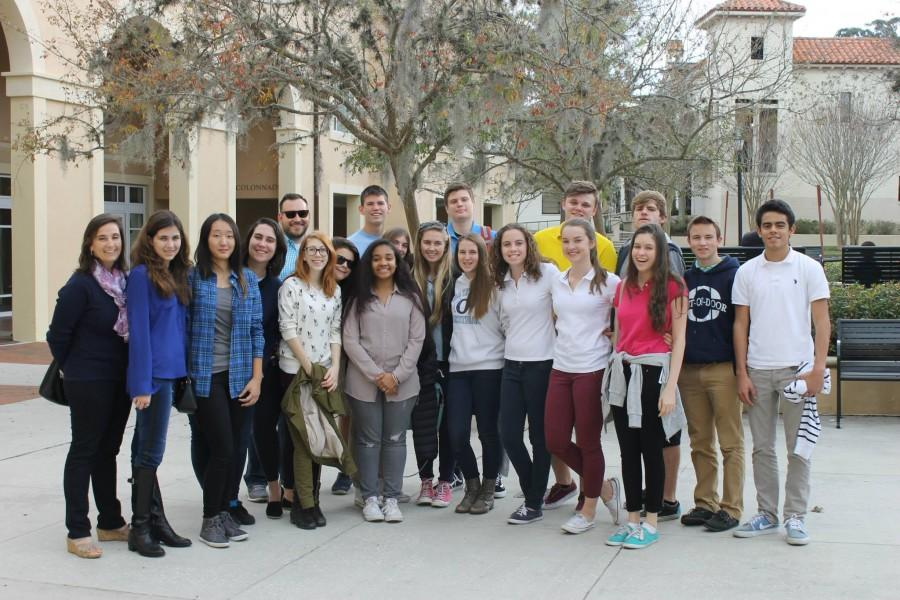Students+at+the+last+stop+of+their+trip%2C+Rollins+College.+
