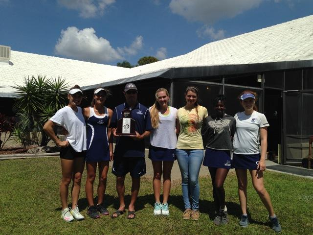 The ODA girl's varsity tennis team after their district runner-up victory.