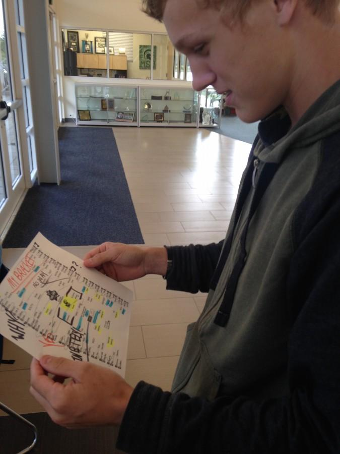 Sophomore Kai Soderberg is getting his bracket prepared for March Madness.